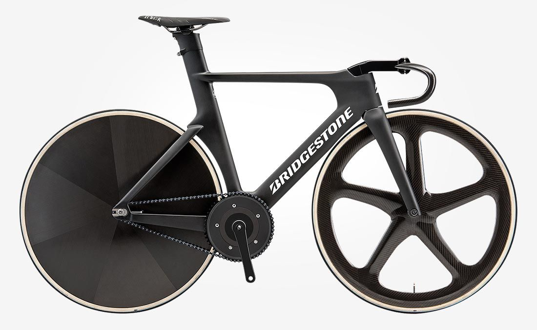 Side view of the Bridgestone Anchor Sprint bicycle.