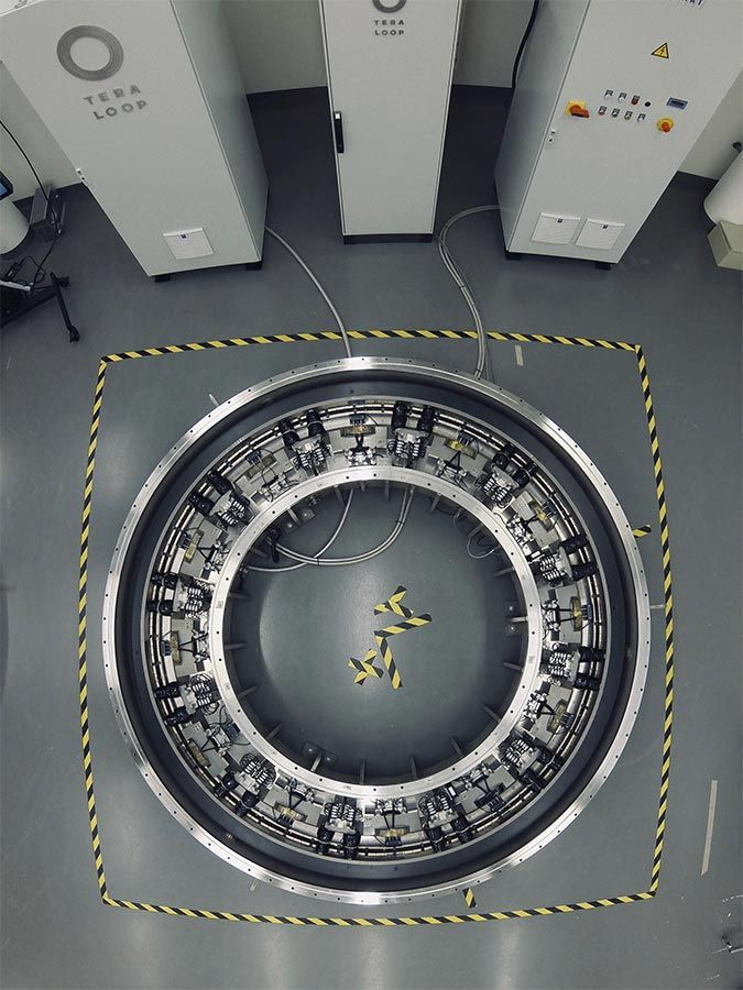 View of the Teraloop flywheel from above.