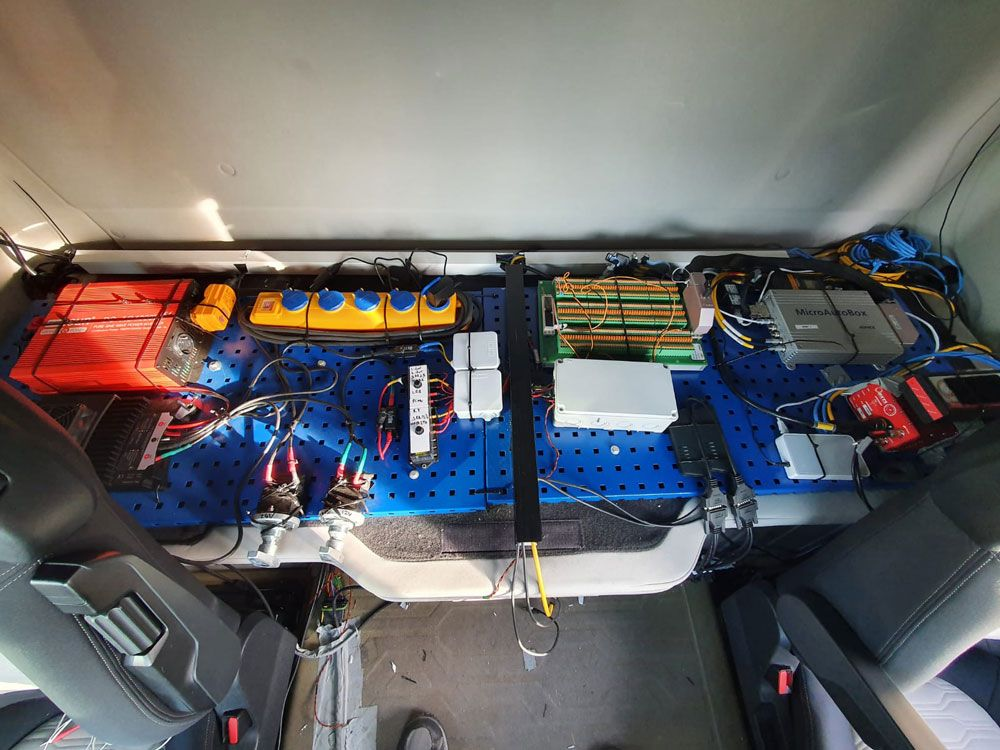 Figure 4. Test setup of the system installed in the vehicle.