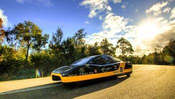 Figure 1. The Sunswift eVe solar electric car.