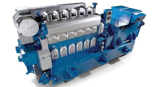 Wärtsilä engine.