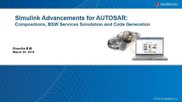 Generate autosar code using Simulink and Embedded Coder.