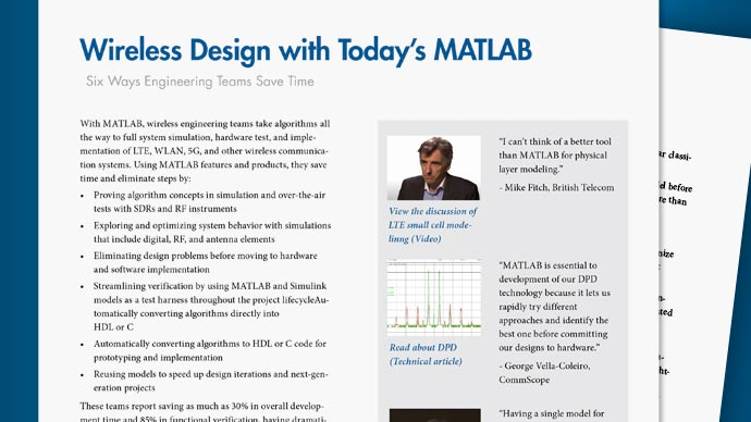 Wireless Design with Today's MATLAB