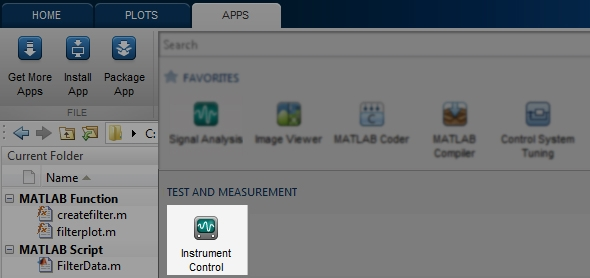 Instrument Control Toolbox Apps