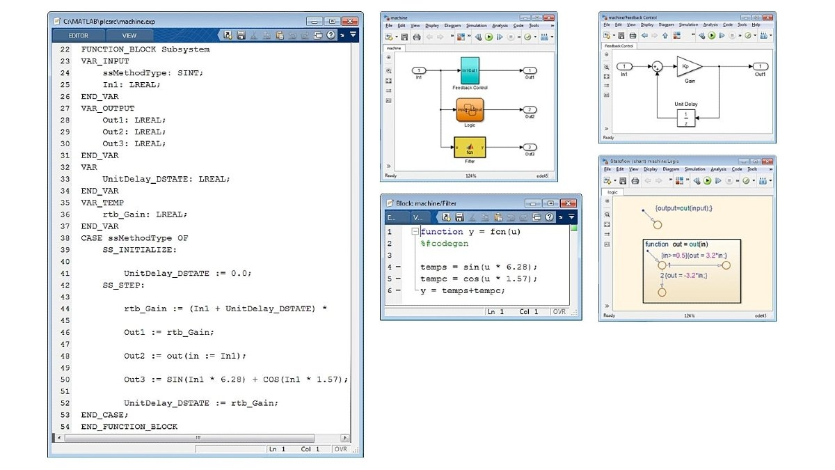 Example of optimized Structured Text. Simulink PLC Coder generates optimized, well-integrated code for Simulink, Stateflow, and MATLAB functions.