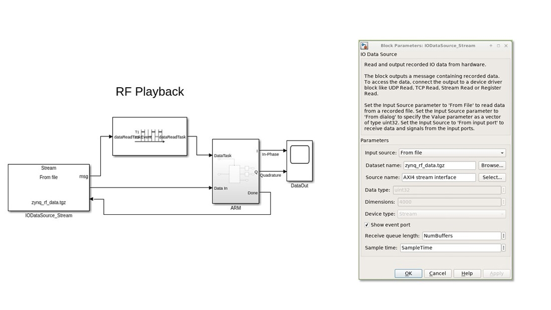 Play back recordings as a source for simulation.