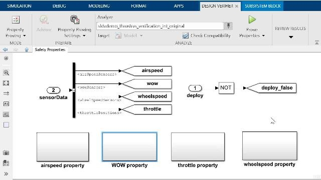 Learn how to perform property proving with Simulink Design Verifier and see how to debug an automatically generated counterexample with the Model Slicer tool from Simulink Check.
