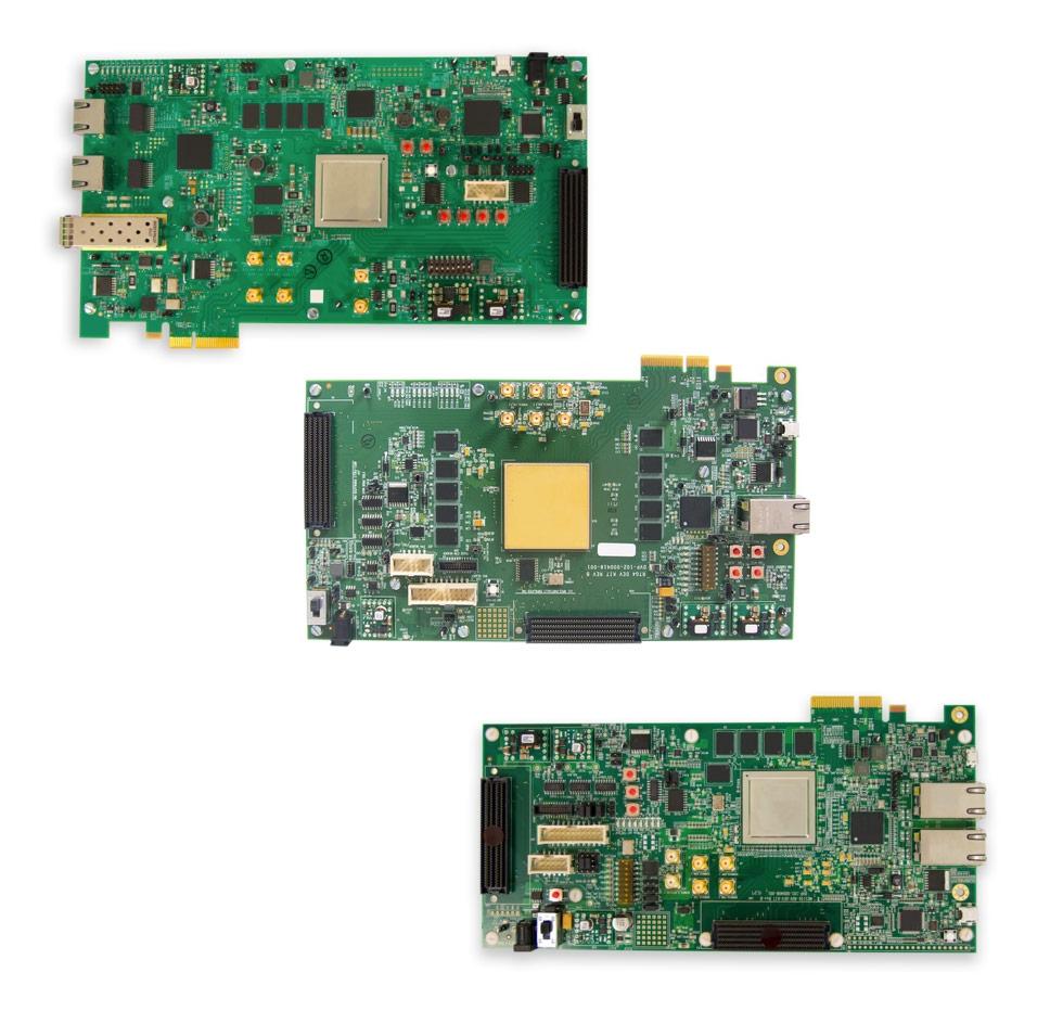 Microsemi PolarFire, RTG4, and SmartFusion2 development kits