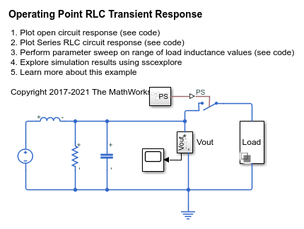 Operating Point RLC Transient Response - MATLAB & Simulink