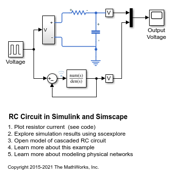 RC Circuit in Simulink and Simscape - MATLAB & Simulink