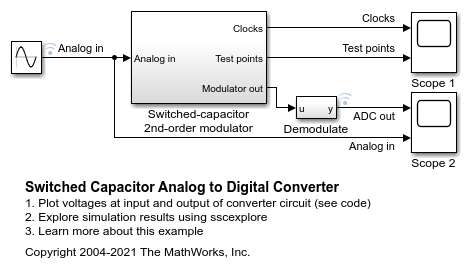Switched Capacitor Analog to Digital Converter - MATLAB & Simulink