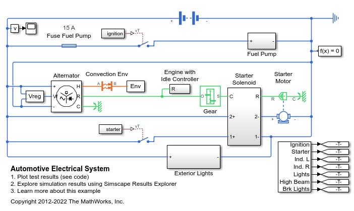 Automotive Electrical System Matlab Simulink