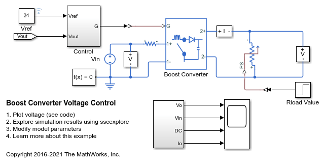 Awe Inspiring Boost Converter Voltage Control Matlab Simulink Mathworks Wiring 101 Taclepimsautoservicenl