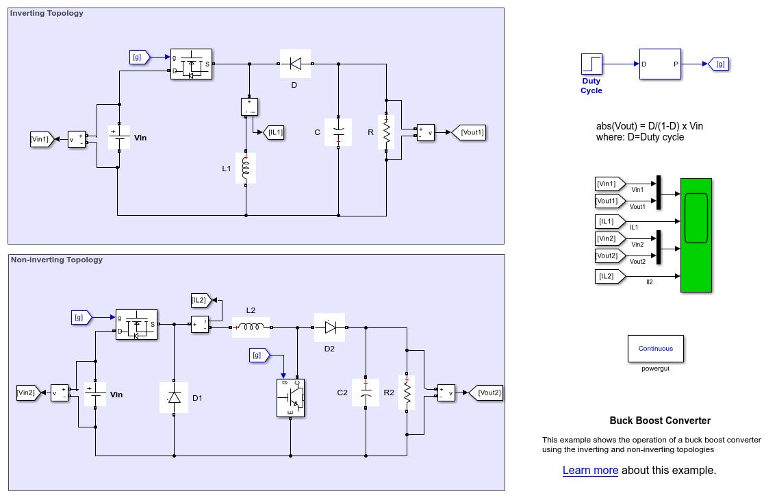Buck Boost Converter Matlab Simulink 12v Dc Power Supply Circuit Diagrams