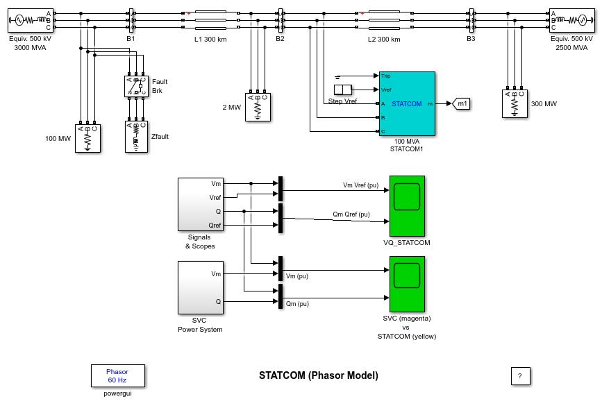 statcom  phasor model  - matlab  u0026 simulink