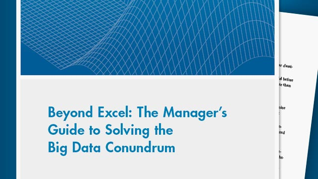 Beyond Excel: The Manager's Guide to Solving the Big Data Conundrum
