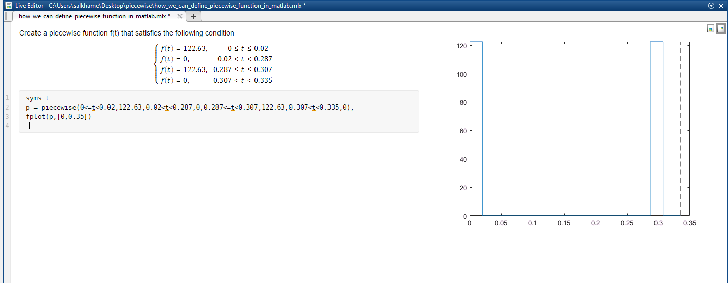 how we can define piecewise function in matlab? - MATLAB Answers ...