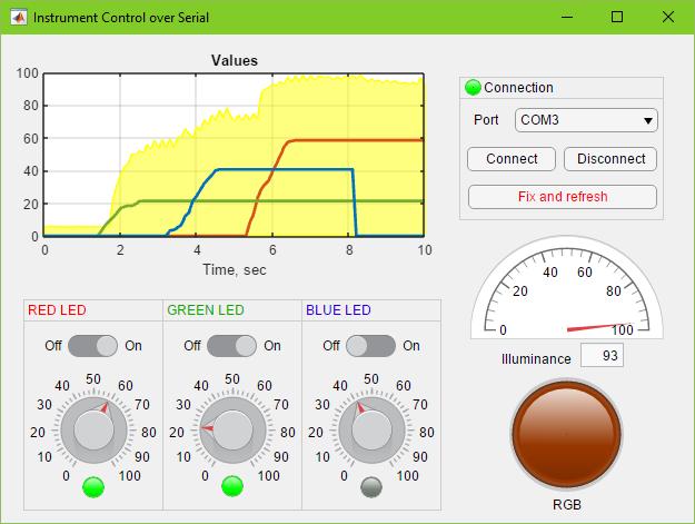 App Designer: Instrument Control over Serial (Arduino) - File