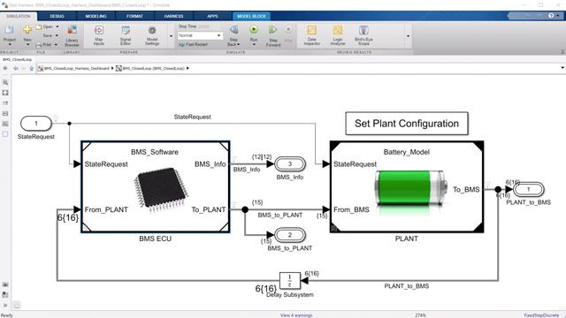 See how to model and simulate battery management system (BMS) algorithms using Simulink and Stateflow. Algorithms include supervisory logic, state-of-charge (SOC) estimation, passive balancing, and power limits.