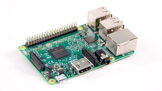 Photo of a Raspberry Pi board.