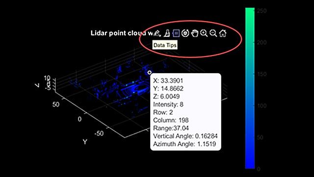 Visualization of a streaming point cloud from a lidar sensor.
