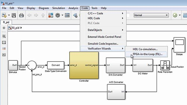 Verify VHDL and Verilog using HDL simulators and FPGA-in-the-loop test benches with HDL Verifier.