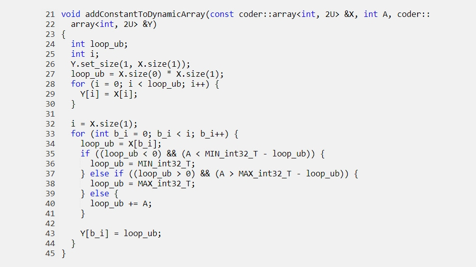 Pass dynamically allocated arrays to generated functions.