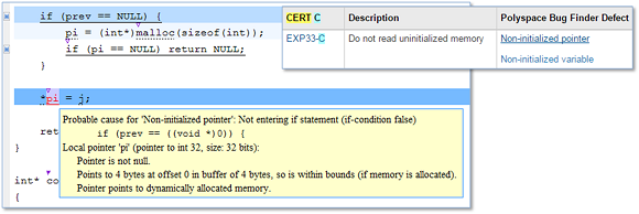 Non-initialized pointer violates CERT C rule EXP33-C