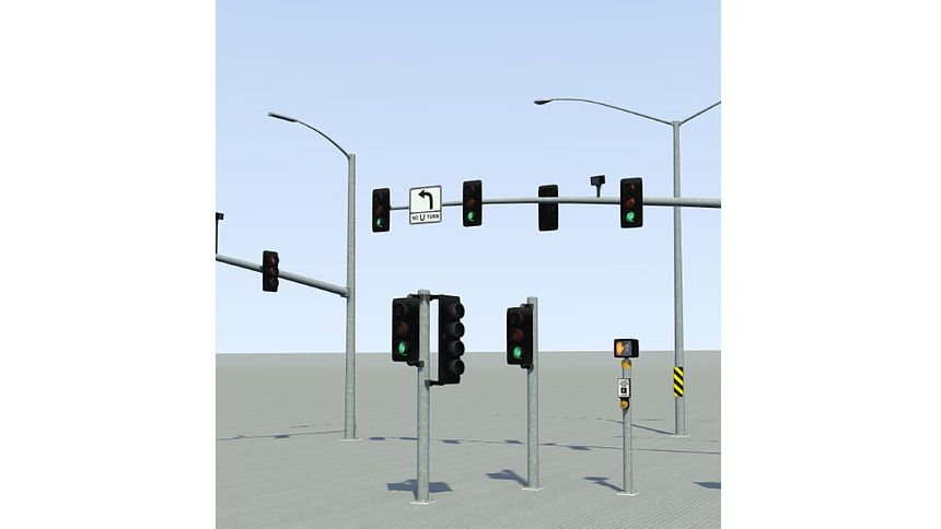 Library of traffic signals.