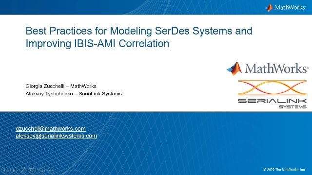 Adopt best practices and a pragmatic approach for the design and simulation of PAM4 high-speed digital links using SerDes Toolbox. SeriaLink Systems presents a COM-compliant Simulink and IBIS-AMI model for a multi-Gbps ADC-based SerDes system.