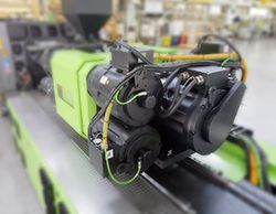 ENGEL injection unit. MATLAB and Simulink helped speed the development of injection molding machine controllers.