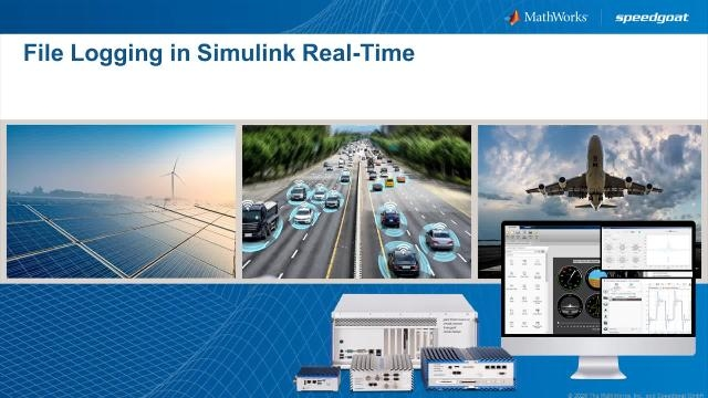 Learn about the new File Log block to log signals with Simulink Real-Time. Use this block to log signals on the Speedgoat target computer.