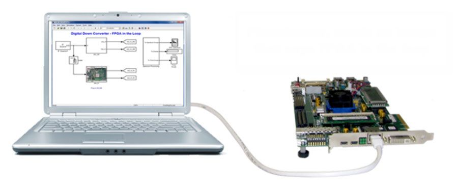 HDL Verifier supports FPGA-in-the-loop verification using Xilinx, Intel, and Microsemi FPGA boards.