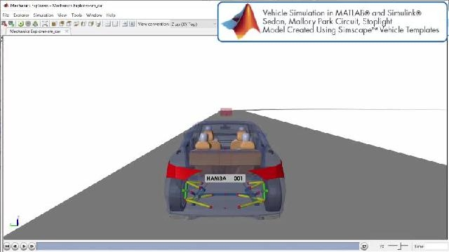 See an animation showing an automated driving simulation with Simscape.