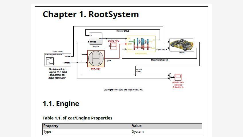 Create a Simulink Report Generator Report