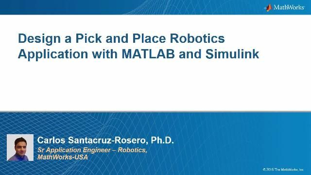 How to solve a pick and place problem with a robot manipulator in MATLAB and Simulink