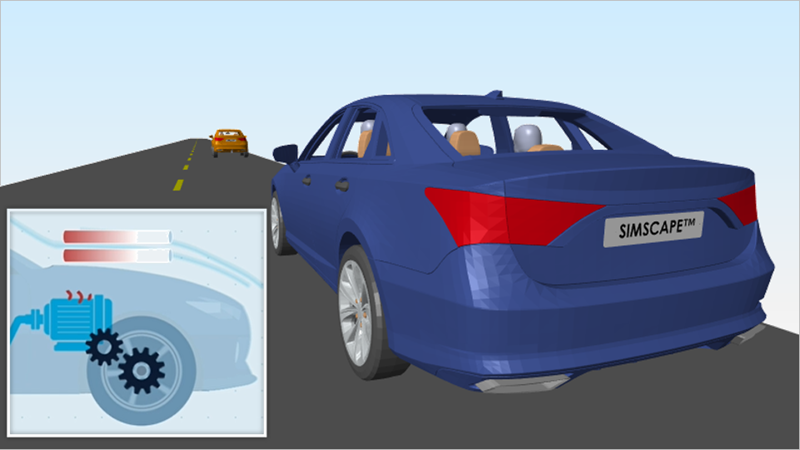 Learn how Simscape enables you to model physical systems by modeling a battery electric vehicle. See how to assemble a schematic of electrical, mechanical, and fluid components into a model that helps you size components and make design decisions.