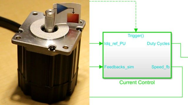 In this video, we demonstrate how to use reference examples provided by Motor Control Blockset as a starting point for implementing field-oriented control algorithms. You can use these examples to generate and deploy embedded code.