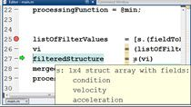 Recently a MATLAB user asked me how to make it possible to work with an array of structures in such a way that she could filter the array of structures and then combine the remaining fields. Once combined she would run arbitrary processing functions