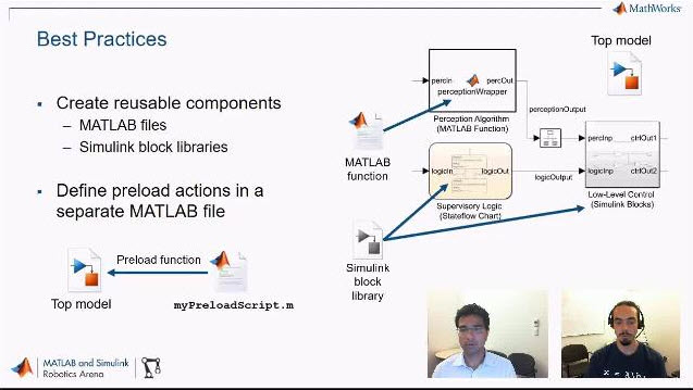 Join Sebastian Castro and Pulkit Kapur as they show how Robotics System Toolbox can help you connect Simulink and the Robot Operating System (ROS).