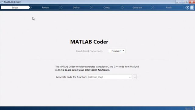 Generate C and C++ code from MATLAB code using MATLAB Coder.