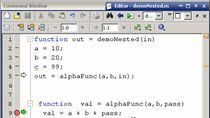 In a previous video we covered functions in MATLAB. This week we will be covering nested subfunctions. This style of subfunction allows you to share the workspace of the calling function without explicitly passing variables. Loren did a nice job cove