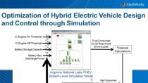 Optimization is critical for achieving the performance and economy expected of Hybrid Electric Vehicles, Plug-in Hybrid Electric Vehicles and Electric Vehicles. With a wide range of design choices and high cost of battery hardware, the sizing and des