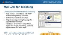 In this webinar learn how symbolic computation can be used to teach concepts and solve problems in Math and Physics courses. Topics include: Using symbolic computation for common tasks such as solving, simplifying, and plotting equations, and perform