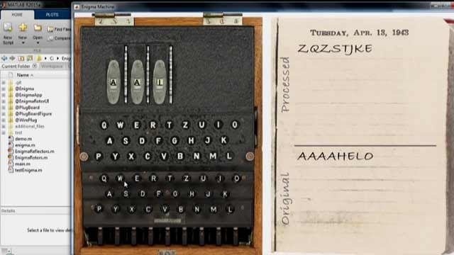 How would you model the World War II Enigma machine using MATLAB ? Seth Popinchalk, from MathWorks Technical Support, shows you one approach.